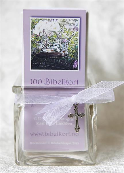 10 x 100 bibelkort + 2 krukker - Bokmål