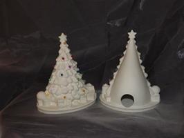 Julgran med julklappar    lampa
