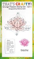 A6 clear stamp set Grunge Flowers set 5