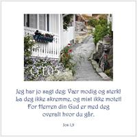 Postkort Josva 1,9