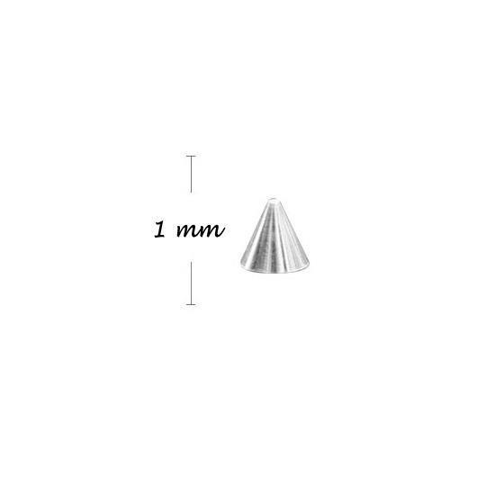KN- Studs High SILVER 1 mm