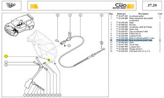 CANON AXE PEDA ACCELERATEUR - Bush-accelerator pedal 7mm