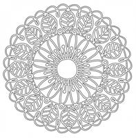 Mask 6x6 inches Leaf Circle