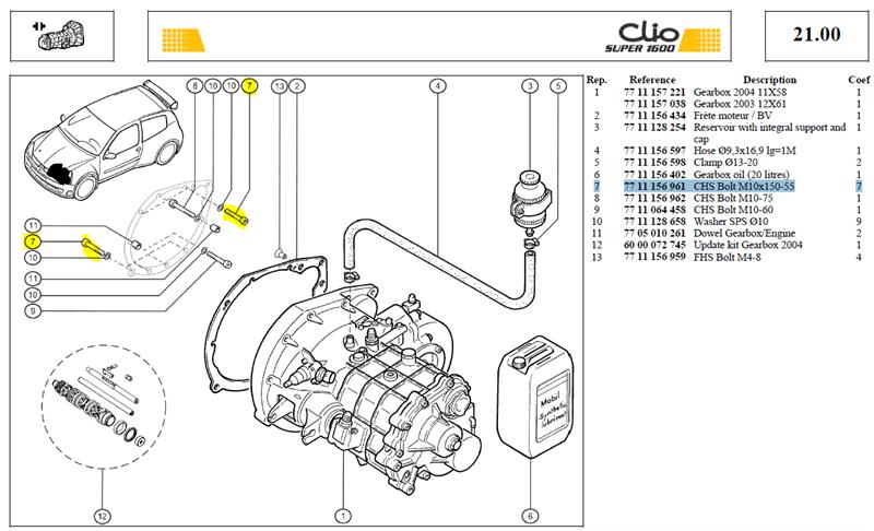 VIS CHC 10X55 LG:55 CL:12.9 - CHS Bolt M10x150-55