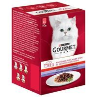 Gourmet Mon Petit Ox/Kalv/Lamm 6*50g