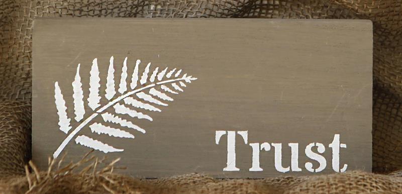 Tekstskilt - Trust