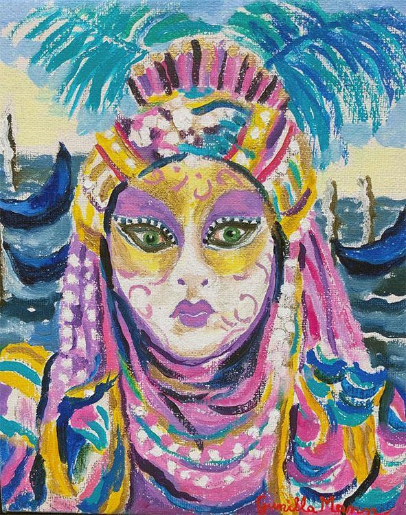 Festklädd i Venedig (22x27)