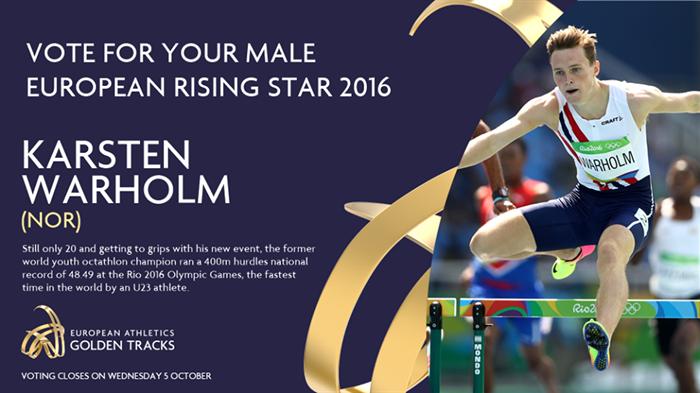 Norske kandidater i avstemningen om europeisk friidretts «Rising star»