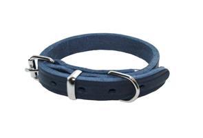 Halsband råläder 12/30 blå -