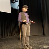 Erik föreläser om sin bok på SeniorExpo i Östersund, januari 2020