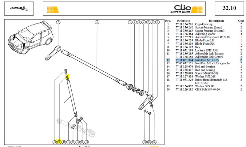ECROU BAS M8X125 EP:4 CL:4 - Nut-Thin M8 x1.25