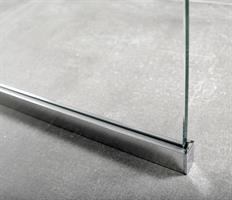 RoyalBath Golv- och Väggprofil 100 cm, Blank Alum.