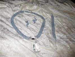Kristall halsband set