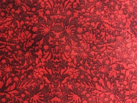 Winter Village, rød m/ blomstermønster