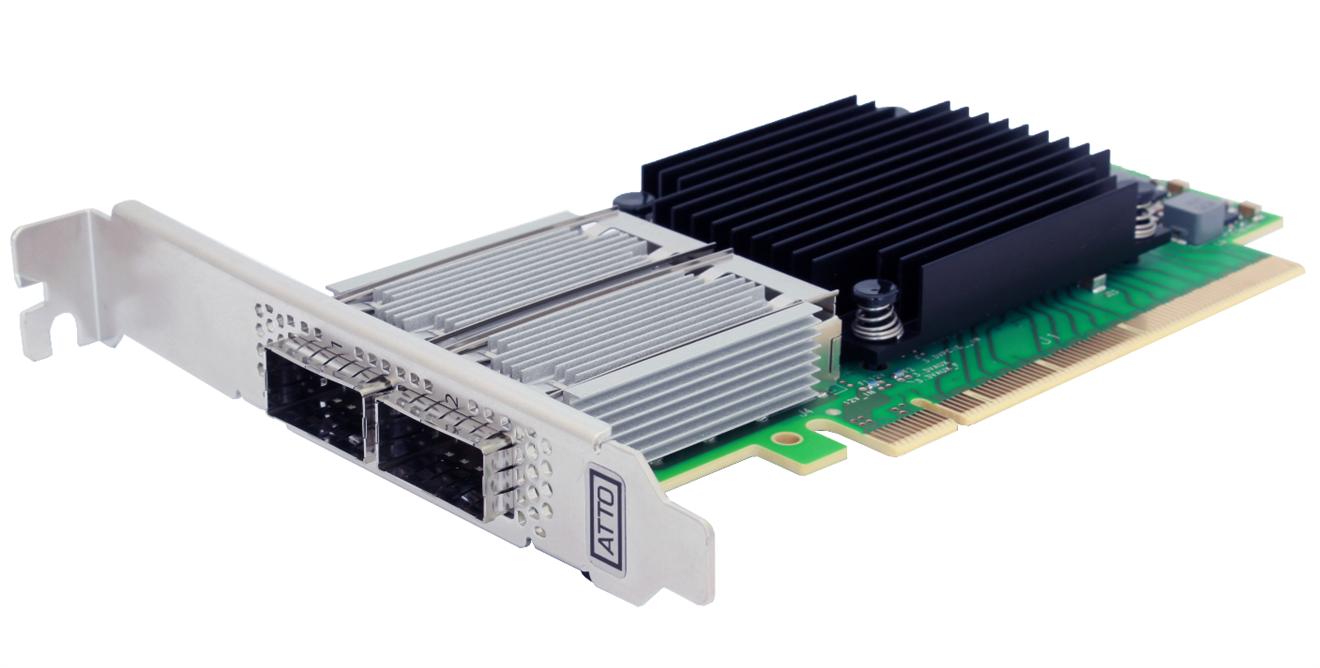 Atto FastFrame dual 100 Gbe PCI-e kort