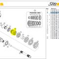Pignons de 1-2 - Clio S1600 Gearkit 1-2 (including 7711157003 & 7711157005)