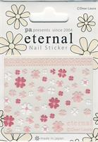 DL- Sticker flower pink & white