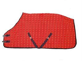 Täcke Fleece Med Julmotiv Röd 105