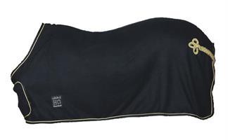 Täcke Fleece Med Frontplatta Svart 115