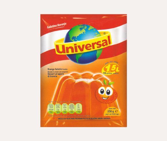 Gelatina Universal Naranja, 250g