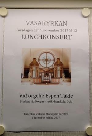 Orgelkonsert Vasakyrkan i Gøteborg