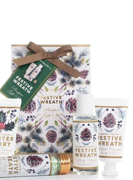 """NEW"" Mini Pamper Set Festive Wreath 3 X 50 ml"