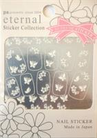 DL- Sticker Butterfly white & flower