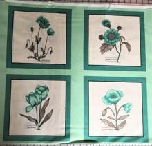Blomsterrapport, turkis