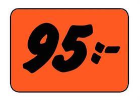 Etikett 95:- 50x30mm