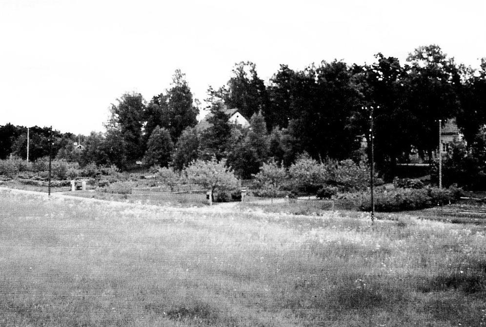 Slåttervägen runt 1950. Foto: Hans Olssons arkiv