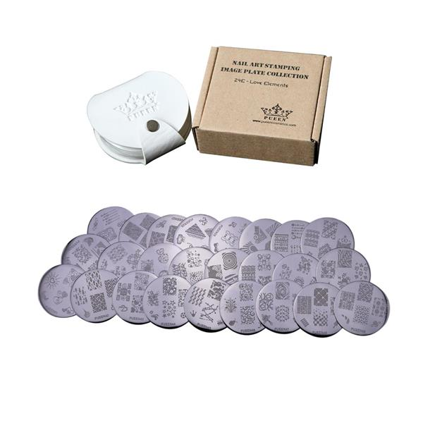 PUEEN- Stamping Plates 24E,Love Elements