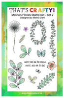 A5 clear stamp set Melina´s Florals set 2