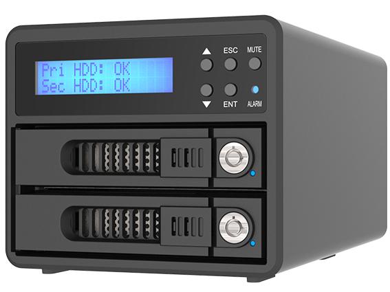 Raidon RAID med 2 8TB HDD