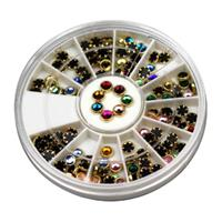KN- WHEEL Golden Glass Rhinestones