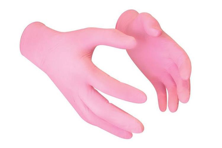 KN- Nitrile glove PINK Medium
