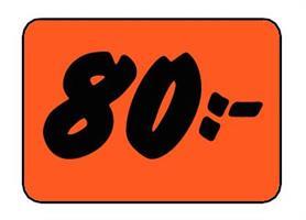 Etikett 80:- 50x30mm