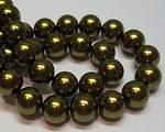 Vaxade glaspärlor guldbrun