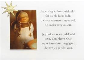 5 x Håndlagde  julekort