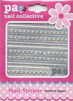 DL- Sticker ribbon silver