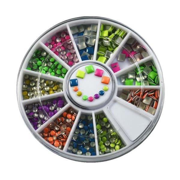 KN- WHEEL Neon studs mixed color
