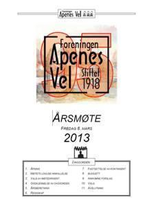 Program for Årsmøte 2013