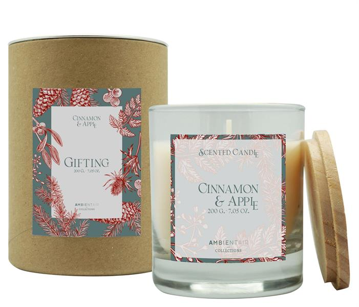 Scented Candle Gifting 200gr Cinnamon & Apple