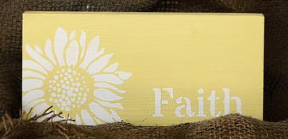 Tekstskilt - Faith