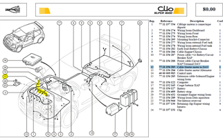 CABLE LIAISON - Cable-Starter moter to DAV