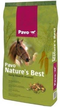 Vi har full sortering av PAVO hästfoder och tillskott i butiken