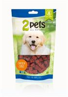 2pets Dogsnack Chicken Cubes 100g
