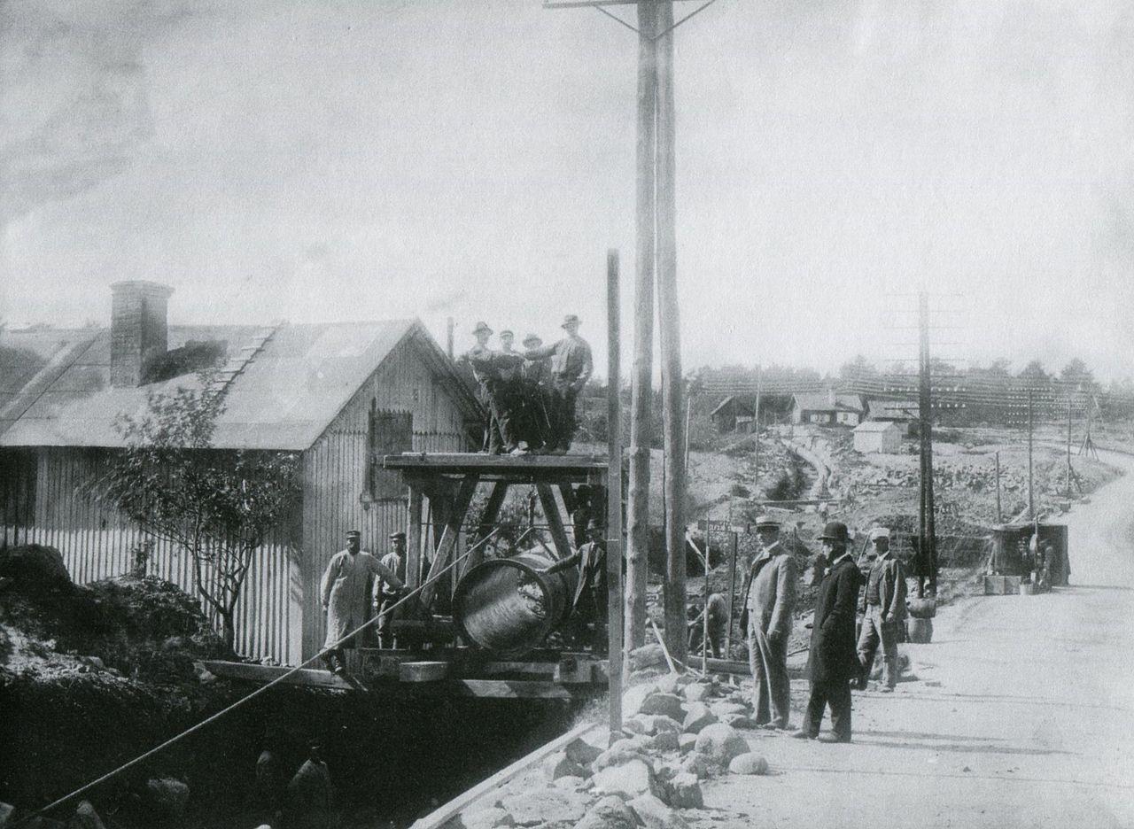 Bygge av huvudvattenledningen från Norsborg till Stockholm
