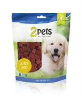 2pets Dogsnack Ostrich Cubes 400g