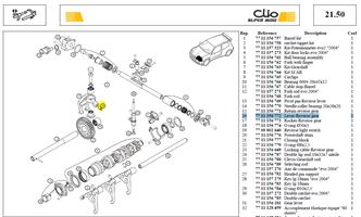DOIGT CDE M.AR - Reverse gear selector pin