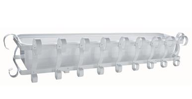 Balkonglåda komplett vit 100cm